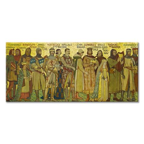 Processional Frieze Robert The Bruce Panoramic Fridge magnet