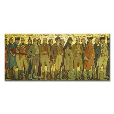 Processional Frieze Robert Burns Panoramic Fridge Magnet