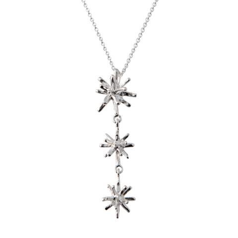 Frozen star triple silver pendant