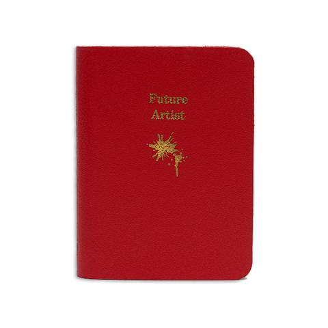 Future artist small red leather notebook