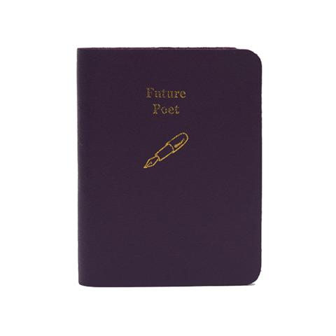 Future poet small purple leather notebook