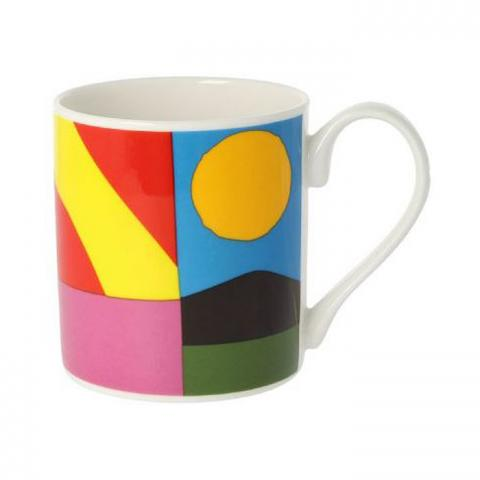 Geometric pattern III drinking chocolate mug