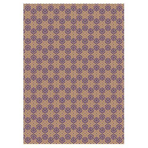 Geometric snowflake pattern gift wrap (single sheet)