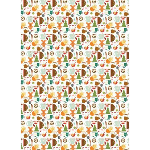 Gingerbread men gift wrap (single sheet)