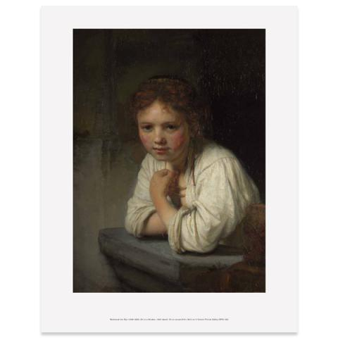 Girl At A Window Rembrandt Art Print
