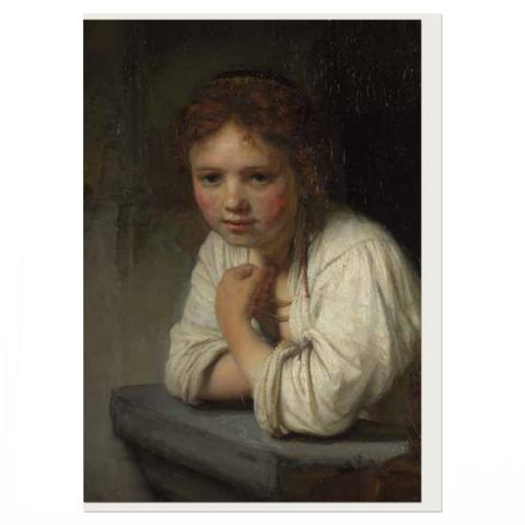 Girl At A Window Rembrandt Greeting Card
