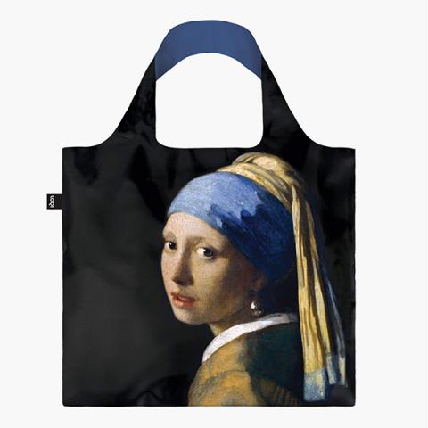 Girl with A Pearl Earring reusable water-resistant carrier bag