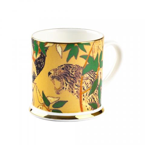 Gold leopard espresso cup detail from The Hunt by Robert Burns