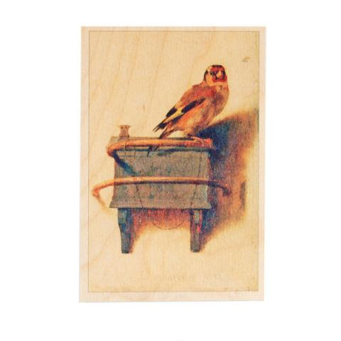 The Goldfinch Carel Fabritius Wooden Postcard