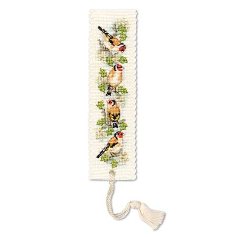 Goldfinches bookmark cross-stitch kit