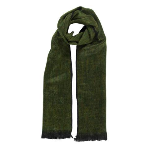 Green citrus alpaca scarf