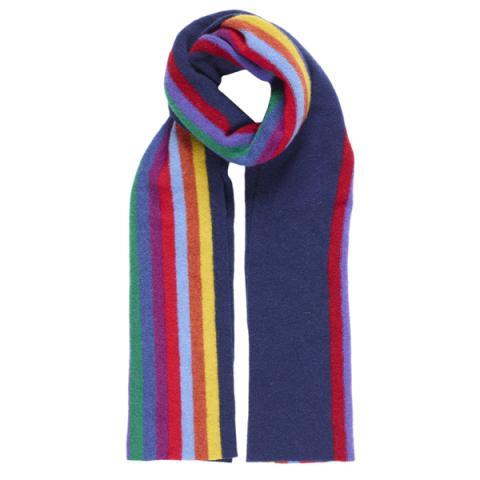 Morris indigo wool scarf