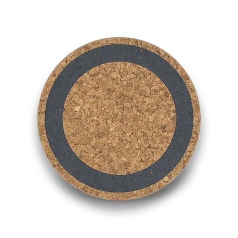 Grey earth cork coaster