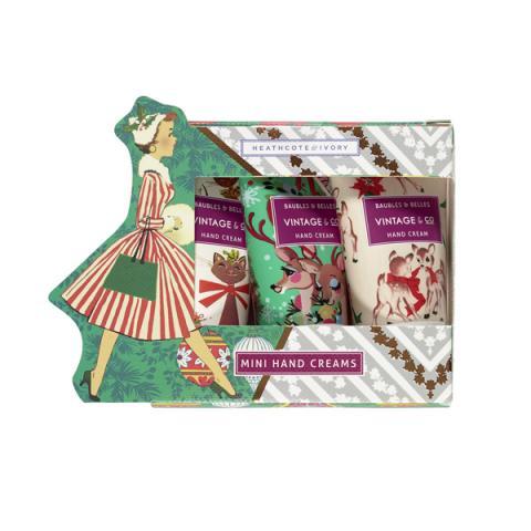Heathcote and Ivory Vintage Christmas Hand Cream Set