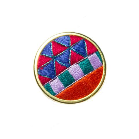 Hand embroidered decorative Freestyle pin