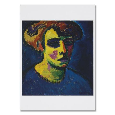 Frauenkopf [Head of a Woman] by Alexej von Jawlensky greeting card