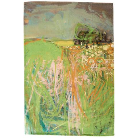 Hedgerow with Grasses and Flowers Joan Eardley Tea Towel