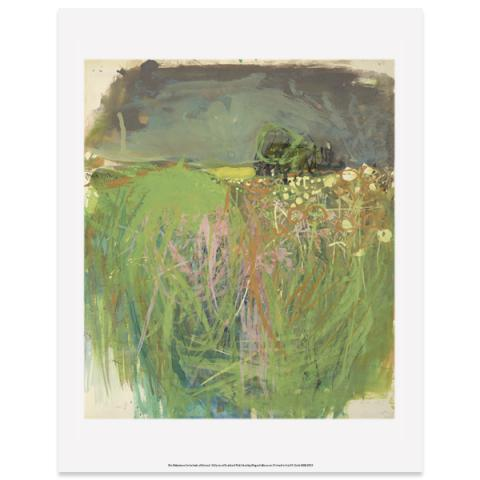 Hedgerow with Grasses and Flowers Joan Eardley Art Print