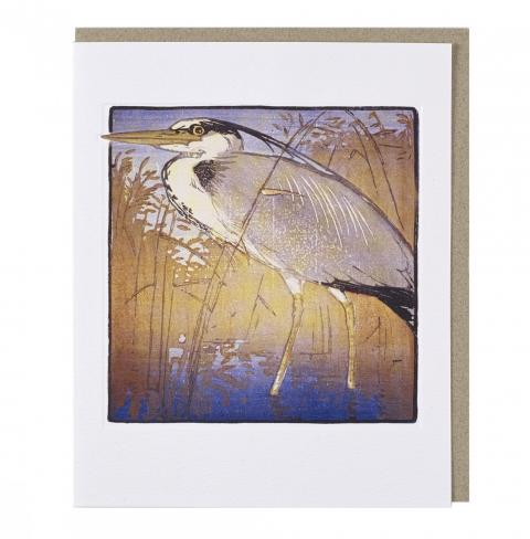 Heron by Allen William Seaby greeting card
