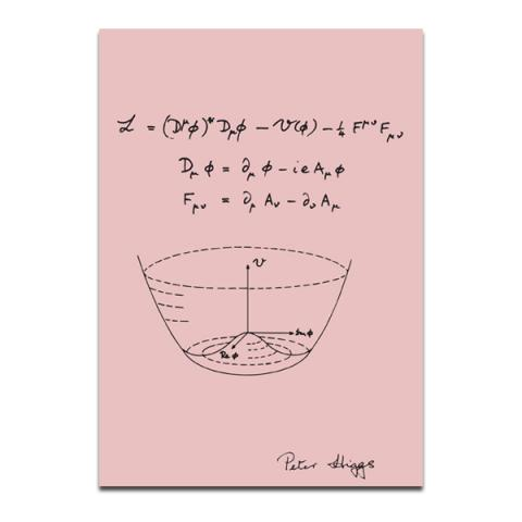 Peter Higgs Boson Theory A5 Graph Paper Notebook Candy Pink