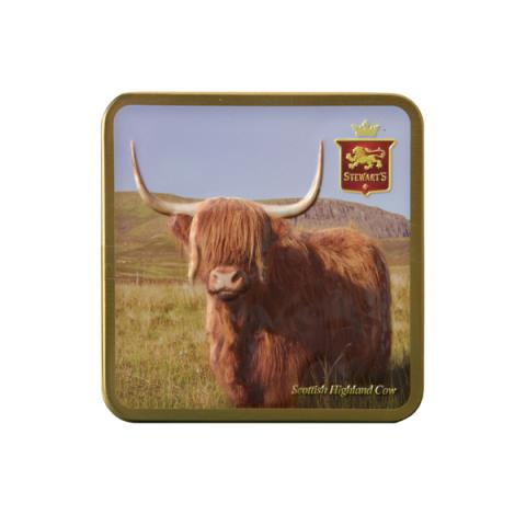 Scottish Highland Cow Tin with Fudge