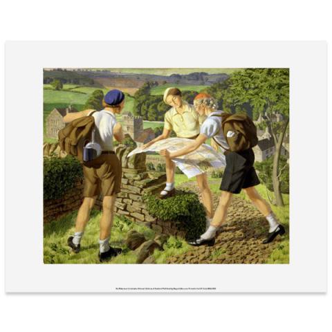 Hiking by James Walker Tucker art print