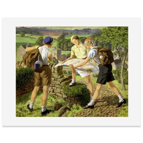 Hiking by James Walker Tucker giclee print (40 x 50 cm)