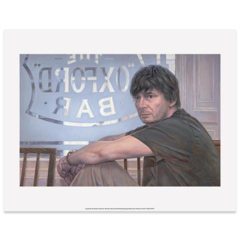 Ian Rankin by Guy Kinder art print