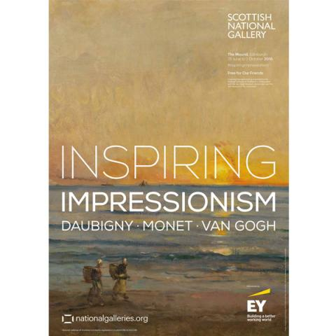 Inspiring Impressionism Daubigny | Monet | Van Gogh exhibition poster