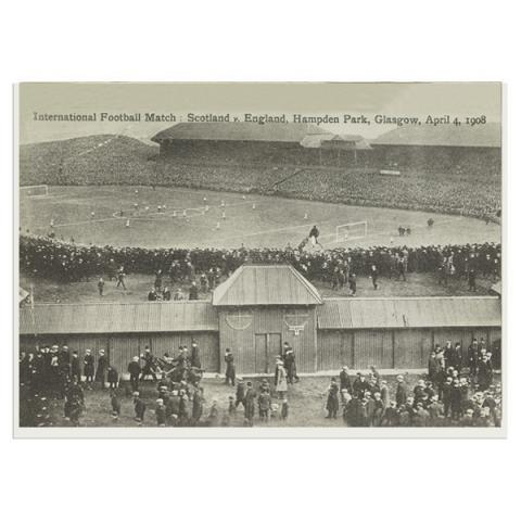 International Football Match: Scotland v. England, Hampden Park, Glasgow, April 4, 1908 greeting card