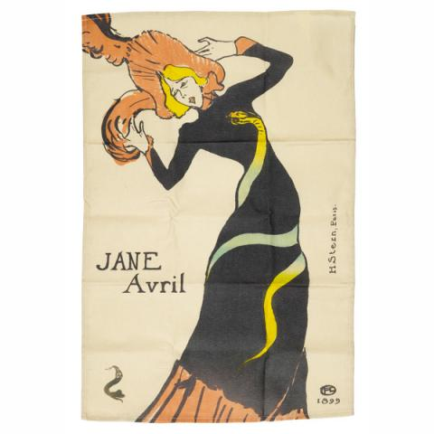 Jane Avril Toulouse-Lautrec Tea Towel