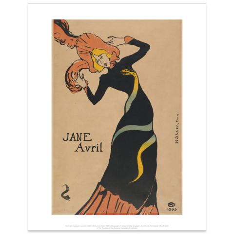 Jane Avril by Toulouse -Lautrec art print