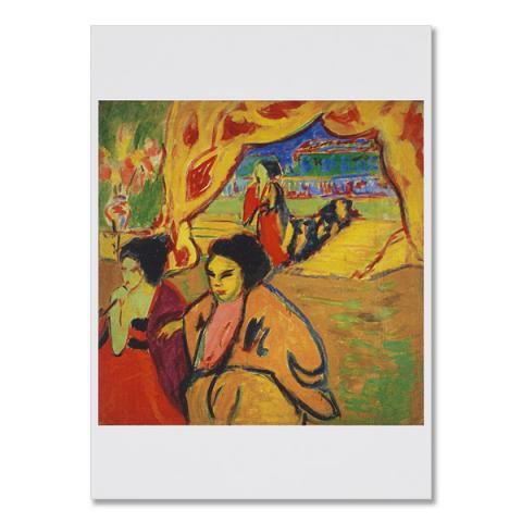 Japanisches Theater [Japanese Theatre] by Ernst Ludwig Kirchner greeting card