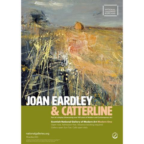 Joan Eardley & Catterline exhibition print (A2)