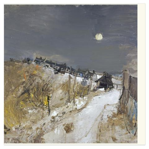 Catterline in Winter Joan Eardley Greeting Card