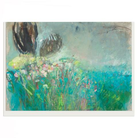 Field With Wild Flowers Joan Eardley Greeting Card