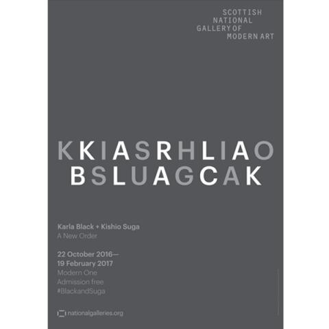 Karla Black and Kishio Suga Exhibition Grey exhibition poster