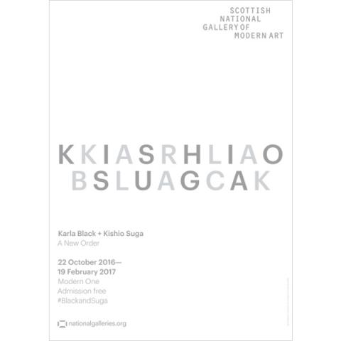 Karla Black and Kishio Suga Exhibition White Poster