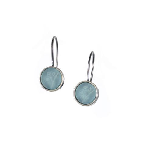 Kathryn Williamson Aqua Treasure Hook Earrings