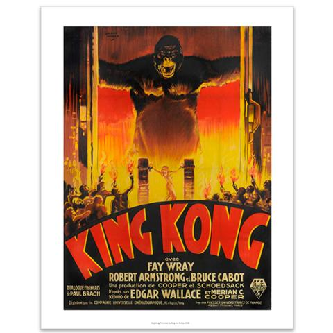 King Kong advertising poster by Cinema Greats poster print