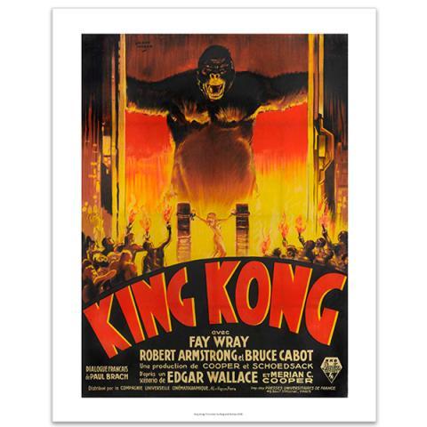 King Kong advertising poster by Cinema Greats art print