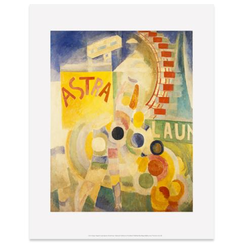 L'Équipe de Cardiff [The Cardiff Team] by Robert Delaunay art print