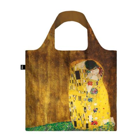 The Kiss by Gustav Klimt reusable water-resistant carrier bag