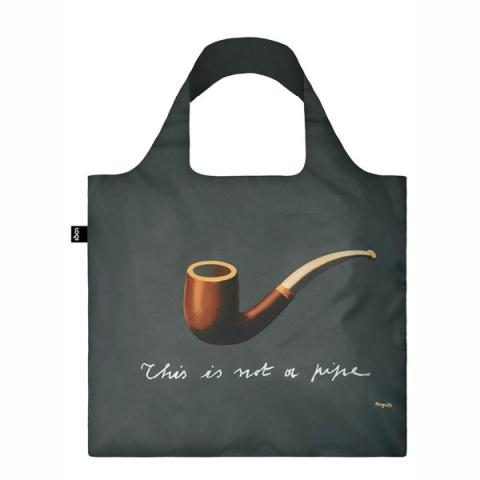 The treachery of images by Rene Magritte reusable carrier bag