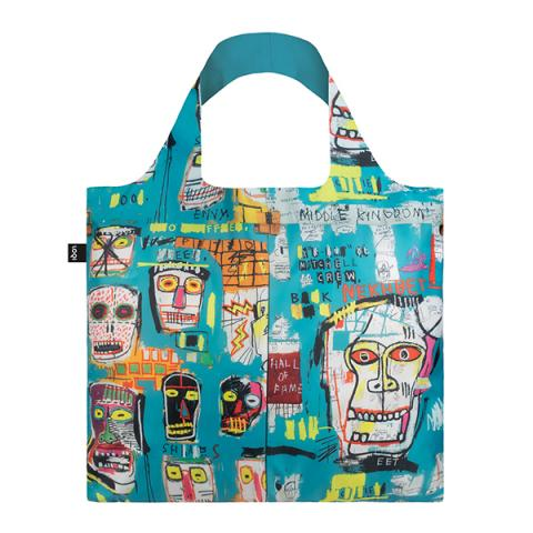 Skull by Jean-Michel Basquiat reusable water-resistant carrier bag