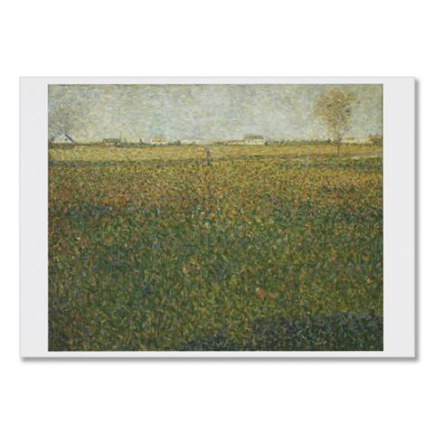 La Luzerne, Saint-Denis by Georges Seurat greeting card