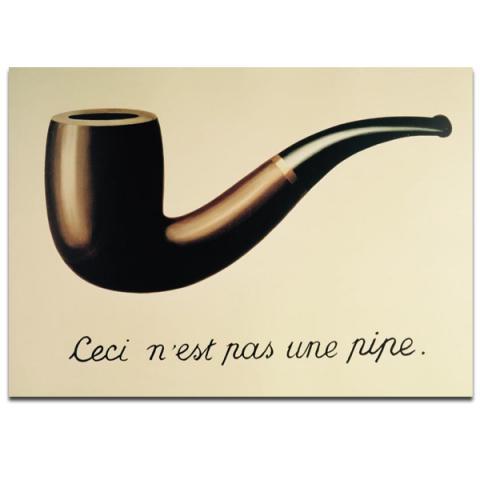 La Trahison des Images - Ceci n'est pas une pipe by Rene Magritte large poster print (70 x 50 cm)