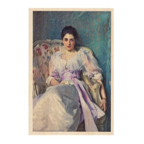Lady Agnew of Lochnaw by John Singer Sargent wooden postcard