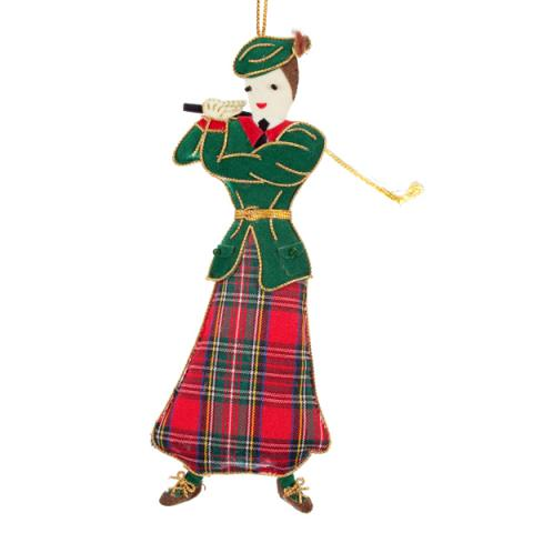 Lady Golfer Christmas Decoration