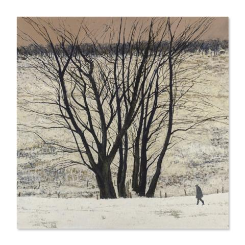 Large Tree Group by Victoria Crowe greeting card
